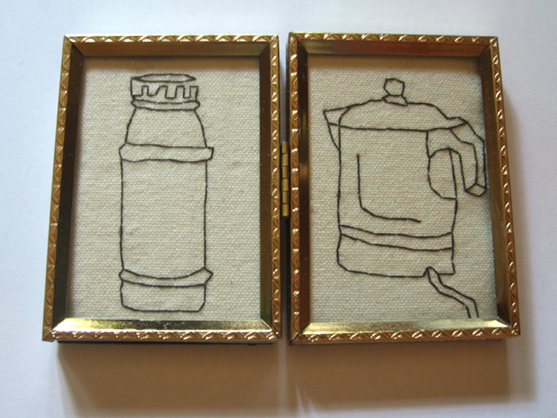 Embroidered Line Drawings